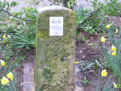 Plague well marker stone